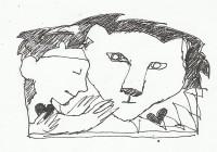 Leeuw omarmd