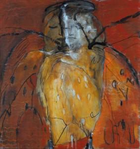 'Vlinder'  2015  90x95  Olieverf op Doek