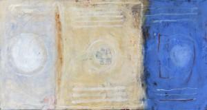 'Blauw Boek'  2015  125x65  Olieverf op Doek