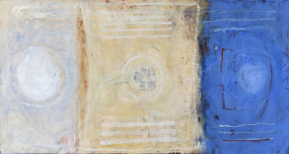 Het Blauwe Doek  2015  125x65  olieverf