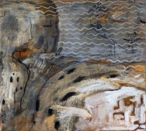 'Zand'  2015  50x55  Olieverf op Doek