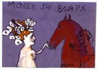 Vrouw en paard en kind