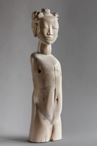 """Meisje twee"", hout, 2013, 82cm hoog, rechter kant"