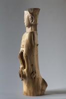 """""""Uit de bast"""" hout, 2013, 100cm, links zij"""