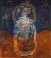 Nachtkind  2014  100 x 90  olieverf  verkocht