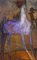 't Violette Paard 2014 120 x 75 olieverf verkocht
